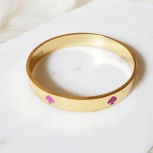 { Kate Spade } Gold and Pink Bangle
